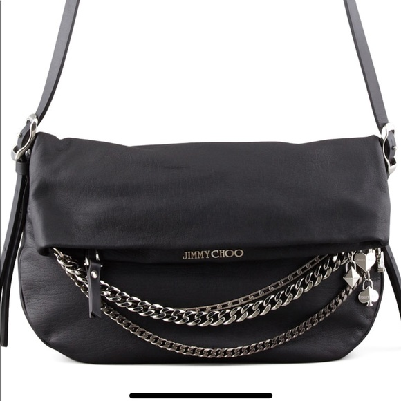 bde5b83593 Jimmy Choo Bags | Sold Biker Chain Leather Handbag | Poshmark